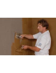 Montáž hliněných panelů ProCrea - nanesení hliněné omítky