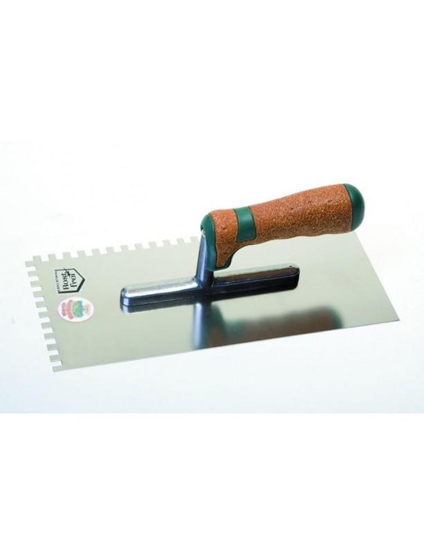 Hladítko zubové, série Kork 4 mm, nerez
